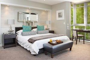 Fancourt Luxury room overlooking warm up area